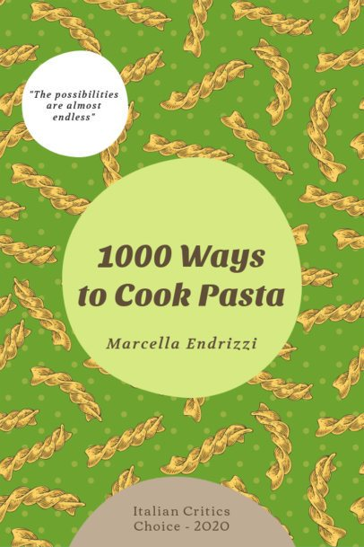eBook Cover Generator for Different Pasta Recipes 1415b-el1