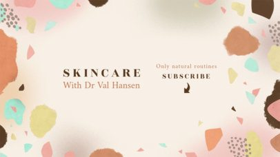 YouTube Banner Maker for a Skincare-Themed Channel 2520b