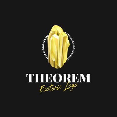 Esoteric Logo Creator Featuring a Precious Gem Graphic 1351e-el1