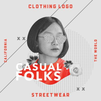 Streetwear Logo Maker with a Black and White Woman Graphic 3256d