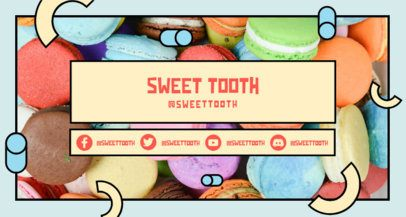Colorful Twitch Banner Design Maker for Baking Channels 2522k