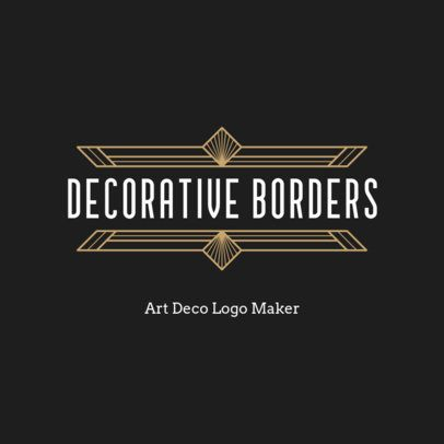 Abstract Logo Creator with Framing Art Deco Graphics 3255b