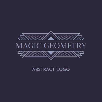 Abstract Logo Maker Featuring Sharp Edge Graphics 3255d