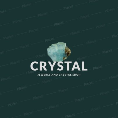 Online Logo Maker for Jewelry Stores Featuring Illustrated Quartz Crystals 1355-el1
