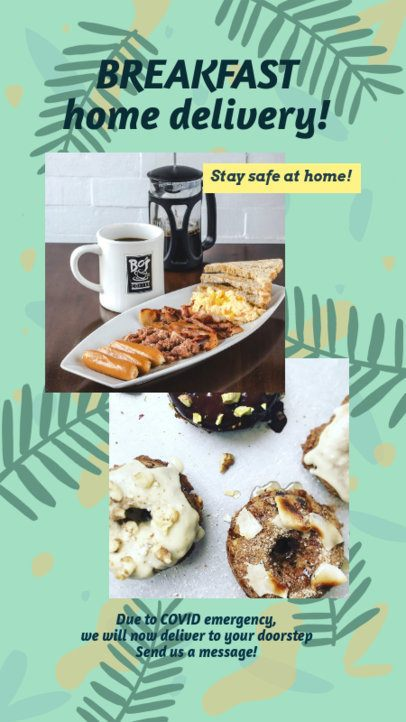 Instagram Story Template for a Breakfast Delivery Advertisement 2525e