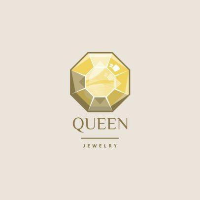 Jewelry Store Logo Maker Featuring a Sparkling Diamond  1354f-el1