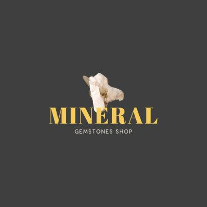 Minimal Logo Generator Featuring a Rock Crystal Graphic 1355b-el1