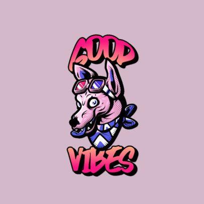 Urban Apparel Logo Maker with a Santa Cruz-Inspired Dog Character 3266f