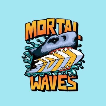 Streetwear Logo Maker with a Santa Cruz-Inspired Shark Illustration 3266g