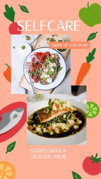 Instagram Story Generator to Promote Healthy Meals 2525k
