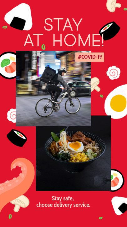 Instagram Story Maker for a Delivery Service Featuring a Food Background 2525m