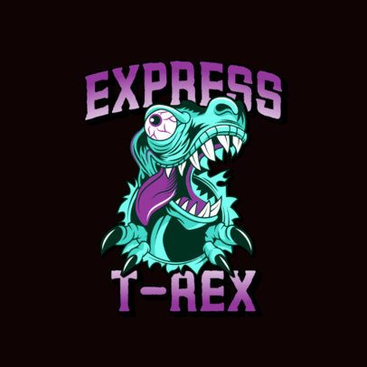 Logo Maker for a Streetwear Clothing Brand with a Funny Dinosaur Clipart 3266h