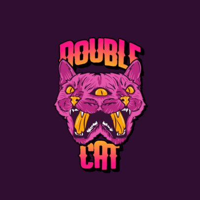 Logo Maker for a Streetwear Brand with a Cat Graphic 3266m