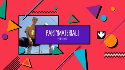 YouTube Banner Creator with an 80's Style Featuring Colorful Shapes 2521i