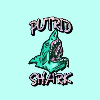 Clothing Logo Maker with the Graphic of a Zombie Shark Head 3266r