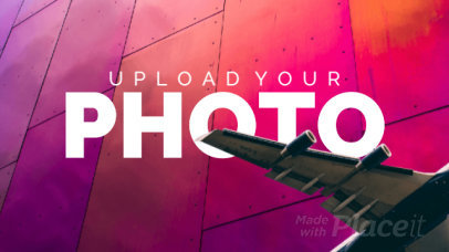 Slideshow Maker Featuring a Cool Picture of an Airplane 837-el1
