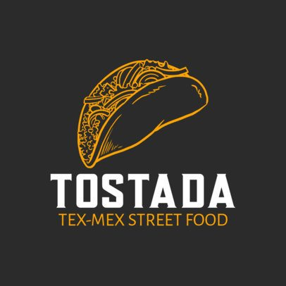 Tex-Mex Restaurant Logo Creator with a Tostada Graphic 1486d-el1
