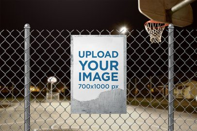 Sign Mockup Featuring a Basketball Court 4138-el1