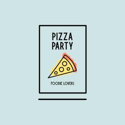 Minimalist Online Logo Template Featuring a Pizza Graphic 1489e-el1