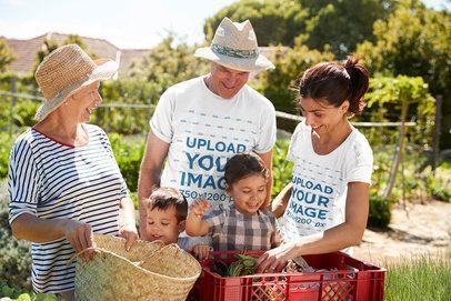 T-Shirt Mockup of a Family Harvesting Together 34251-r-el2