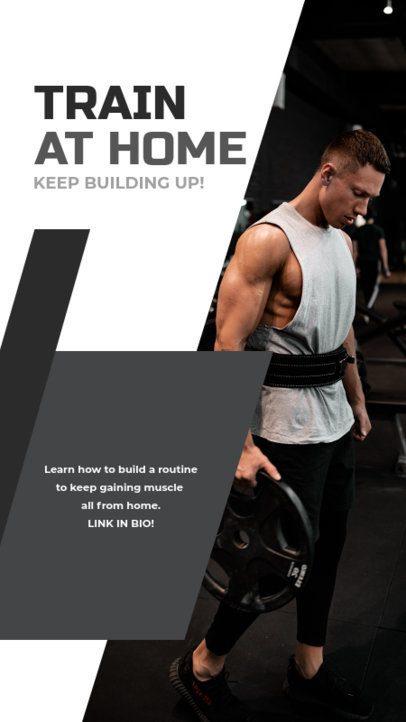 Instagram Story Maker Featuring Home Trainings 1473b-el1