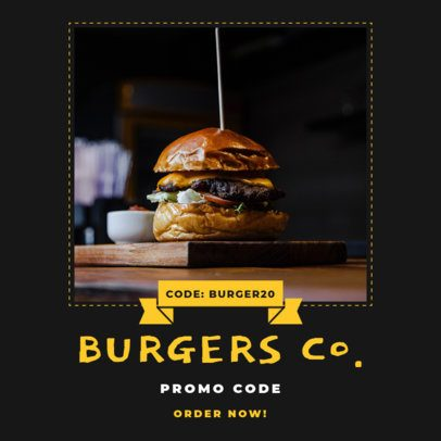 Instagram Post Maker with Promo Codes for Restaurants 1454-el1