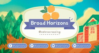 Twitch Banner Maker Featuring Animal Crossing-Inspired Background Illustrations 2542