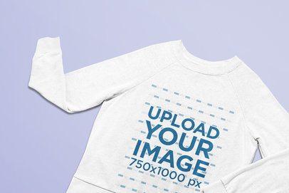 Heathered Sweatshirt Mockup Featuring a Minimalist Setting 25627