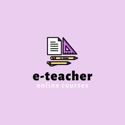 Logo Creator for Online Educational Courses 1501e-el1