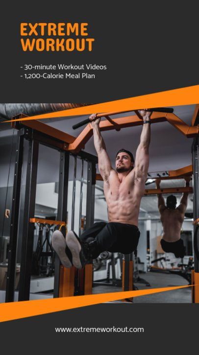 Instagram Story Creator for an Extreme Workout Plan 1475a-el1