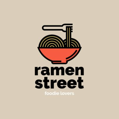 Simple Logo Maker for a Ramen Place 1490f-el1