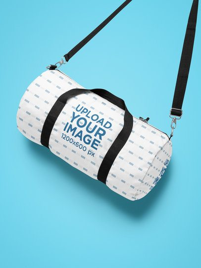 Mockup of a Duffle Bag with Shoulder Strap 25523