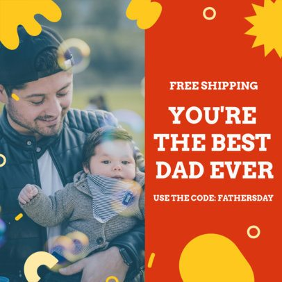 Instagram Post Creator for a Father's Day Promo Code 2545d