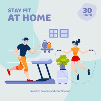 Instagram Post Template to Promote Home Workout 1482-el1