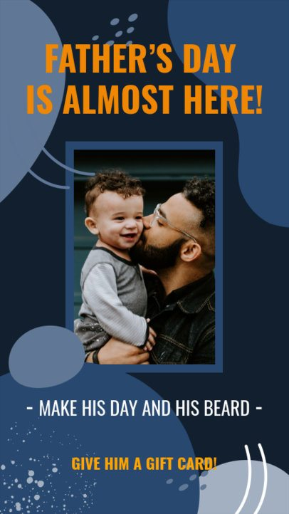 Father's Day Instagram Story Generator Featuring a Picture of a Man and His Kid 2544a