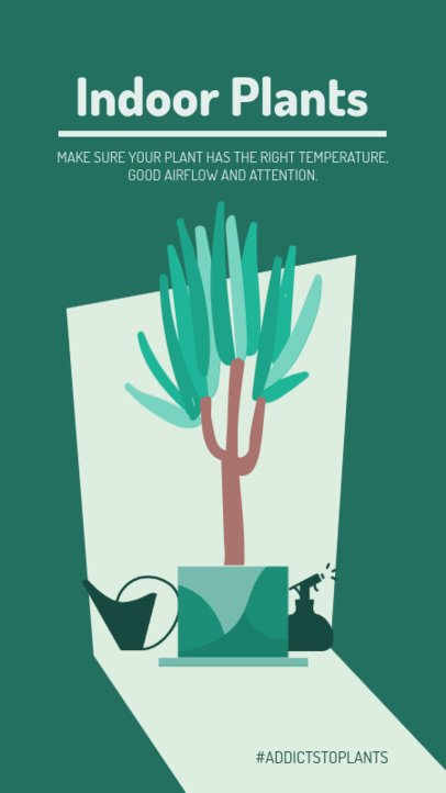 Instagram Story Template with Indoor Plants Graphics 1461a-el1
