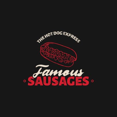Logo Creator for a Hot-Dog Place with a Tasty-Looking Graphic 1487b-el1