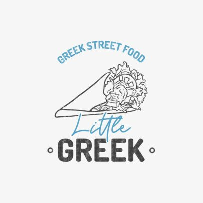 Fast Food Logo Maker Featuring a Typical Greek Dish Graphic 1487e-el1