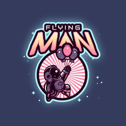 Logo Template for Gaming Teams with a Funny Astronaut Graphic 3274e