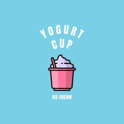 Logo Generator for a Desserts Place with a Yogurt Icon 1491c-el1