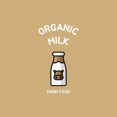 Logo Creator for a Farm Food Place with a Milk Carton Icon 1491e-el1