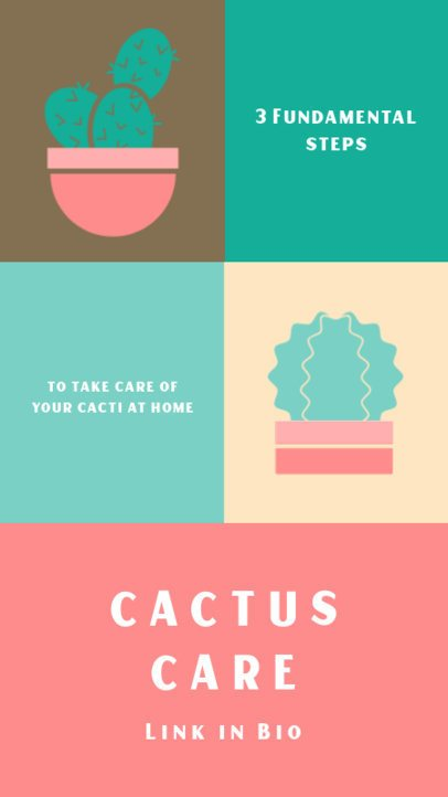 Instagram Story Creator Featuring Cactus Graphics 1469c-el1