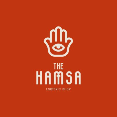 Logo Generator for an esoteric Store with a Hamsa Graphic 1495d-el1