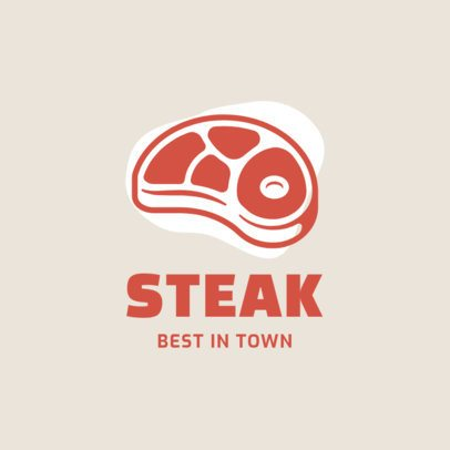 Restaurant Logo Maker Featuring a Steak Graphic 1488b-el1