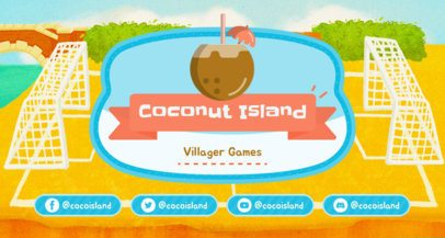 Animal Crossing-Inspired Twitch Banner Maker with a Coconut Graphic 2542f