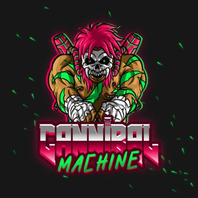Gaming Logo Generator with a Skull Cyborg Character 3279g