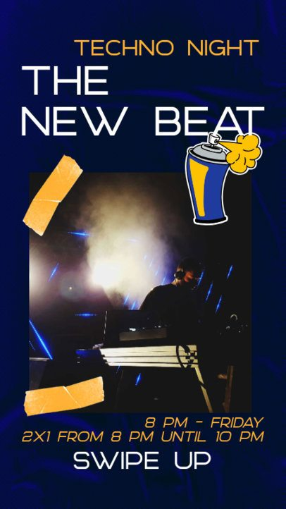 Instagram Story Maker for an EDM Concert Promo 2534f