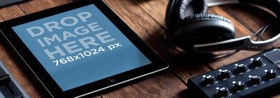 Apple iPad Black Portrait Dj Studio Wide