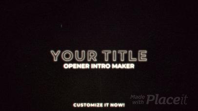 Intro Maker for a Logo Reveal Featuring a LoFi Effect 1101-el1