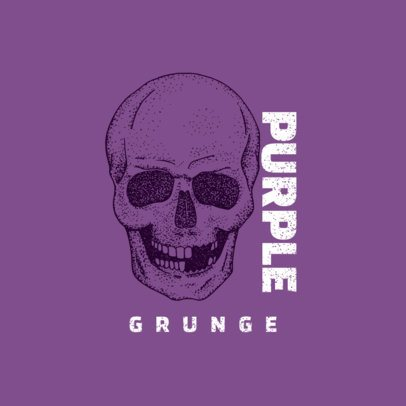 Grunge Music Band Logo Maker with a Skull Icon 1630d-el1